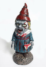 "Zombie Horror Female Garden Gnome Holloween Decor Prop 15"""