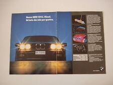 advertising Pubblicità 1986 BMW 324 D DIESEL