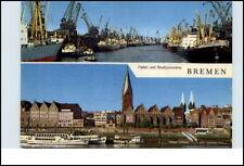 BREMEN Mehrbild-AK ~1960/70 mit 2 Ansichten ua. Schiffe