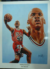 "Michael Jordan Chicago Bulls ""#45 Special"" 24""x18"" Lithograph By Jeon Wolf"