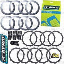 Apico Placas De Fricción Acero Kit De Embrague & Resortes Para KTM EXC 400 2008 Enduro