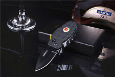Multi Windproof Refillable Butane Gas Jet Flame Cigarette Lighter Folding Knife