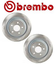 For Mercedes W215 W220 Pair Set of 2 Rear Disc Brake Rotors Solid Coated Brembo