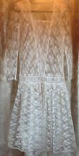 Vintage 80s does 20s Mr Simon lace wedding dress for repair or repurpose Small