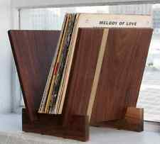 Flip Tabletop VinylRecord Storage Solid American Walnut with Solid Brass Detail