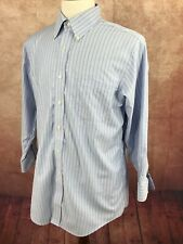 Brooks Brothers Classic Non Iron Blue Stripe Supima Cotton Shirt Men's 16-31