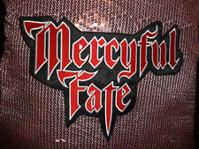Mercyful Fate Back Patch Shape Patch EMBROIDERED King Diamond Red