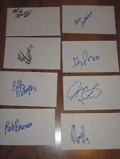 Maine Mariners Lot Of 19 Autographed 3X5 Index Cards From 1989-1990 Season