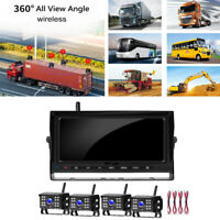 Vehicle 7 inch Monitor Rearview System w/ 4 Wireless Dash Camera IR Night Vision