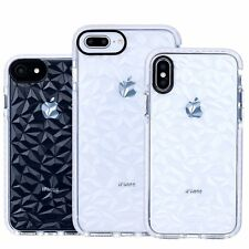 For iPhone X 7 8 Plus XS Max XR Shockproof Clear Diamond Case Soft Silicone Case