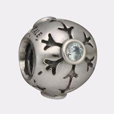 Genuine Pandora Sterling Silver 925 ALE 790367CZA *Snow Flake* Charm Blue