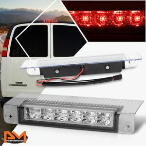For 03-17 Chevy Express/GMC Savana LED Third 3RD Tail Brake Light/Lamp Chrome