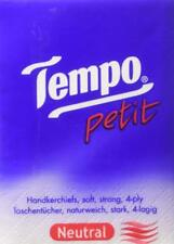 Super Value Pack !Tempo Pocket Facial Tissue Paper Hankies Handkerchief Neutral