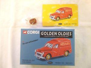 CORGI MORRIS 1000 NESTLE'S VAN + METAL CORGI BADGE 06502  [MINT AND BOXED]