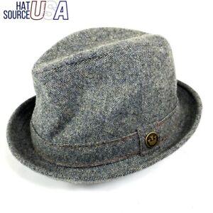 """The Barber"" Goorin Bros Men's Fedora Hat Gray Size Medium Western Gangster NWT"