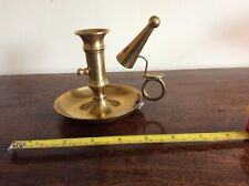 Brass Wee Willie Winkie candle holder chamber stick with snuffer adjustable