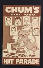 1959 Chum Chart Hi Fi Club Members Hit Parade 1050 Bob Laine Toronto Radio Music