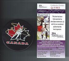 Joe Sakic Signed Team Canada Puck Colorado Avalanche JSA Authenticated Q91883