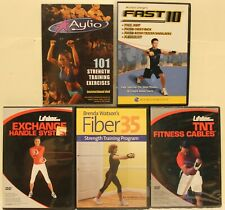 5 resistance band workout DVD lot 101 strength training aylio fast 10 fitness