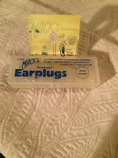 NEW MACK'S Pillow Soft Clear Silicone Ear Plug Putty ADULT 2 PAIR 22 Decibels