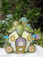 Miniature Dollhouse FAIRY GARDEN ~ FAIRYTALE White Pumpkin Carriage ~ NEW