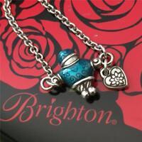 Brighton Retired  FAMILY  Silver & Blue Boy Necklace NWT