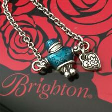 "Brighton Retired "" FAMILY "" Silver & Blue Boy Necklace NWT"