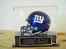 Football Mini Helmet Display Case With A Texas Longhorns Engraved Nameplate