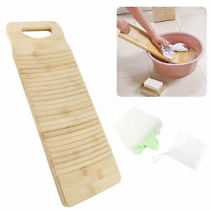 Wooden Washboard Thicken Wood Washing Board Wash Home Laundry Clothes 50CM