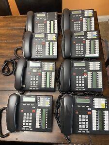 Lot of 8: Nortel Charcoal T7316E Avaya Business Corded Phones Handsets Landlines