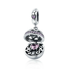 authentic PANDORA CHARM bead 925 sterling silver dangle ball love four colors