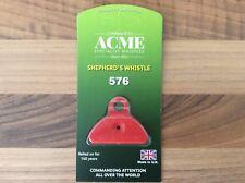 Acme Shepherds Plastic Lip Whistle IN ORANGE. Sheep Dog Training Herding