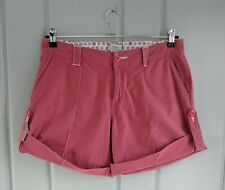 Horny Toad Womens 8 Medium Shorts Roll Tab Cuff Pink Coral Casual Flat Pockets