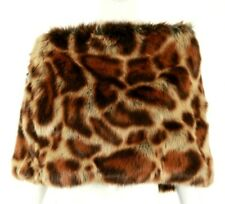 DRIES VAN NOTEN Brown Ocelot Leopard Print Faux Fur Capelet