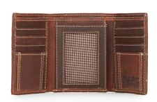 Marc New York  Andrew Marc Bifold Washed Leather Wallet- Brown    $58.00