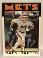 1986 Topps Tiffany Gary Carter baseball card New York Mets #170 (1/5000) HOF Mlb