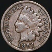1897 | U.S.A. Indian Head One Cent | Bronze | Coins | KM Coins