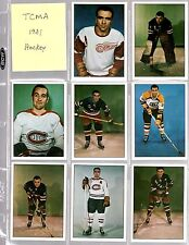 1981 TCMA Hockey Star Complete Set (1-13) ~ Rocket Richard- Orr- Bucyk & more