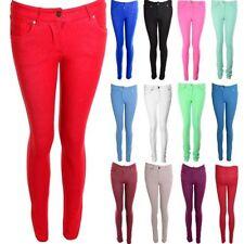 donna colorati stretch aderente jeans Donna Jeggings