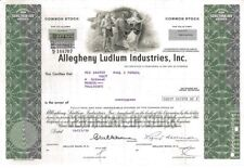 Allegheny Ludlum Industries > 1978 Pittsburgh, PA Steel old stock certificate
