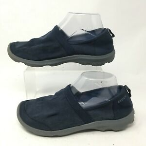 Crocs Womens 8 Busy Day 2 Satya A-Line Casual Slip On Flats Blue Canvas 202338