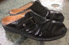 Finn Comfort patent Leather Print Black Mule Slides 39 US 8-8.5