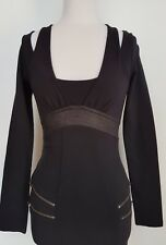 WISH Stunning Black Dress/Tunic BNWT RRP $129.95  Size XS/8