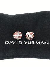 David Yurman Cable Wrap Earrings with Pink Morganite and Diamonds