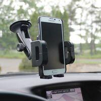 iPHONE 6 7 8 Plus, X XS MaX XR - ROTATING CAR MOUNT AIR VENT WINDOW PHONE HOLDER
