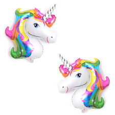 2x Huge Unicorn Foil Balloons Animal Globo Inflatable Classic Toy Birthday Party