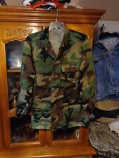 RAID MODIFIED MARSOC Shirt BDU  LARGE LONG  HOOK WOODLAND USGI SUMMER WEIGHT LL