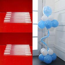 4pcs Plastic Transparent Pole For Balloon Arch Column Base Stand Wedding Decor
