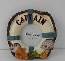 Nautical Picture Frame Captain Life Preserver Fish Coral Sea Weed
