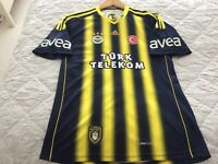 FENERBAHCE FOOTBALL HOME SHIRT 2013 OFFICIAL ORIGINAL ADIDAS size Small